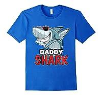 Dabbing Daddy Shark Fathers Day Gift Matching Shirts Royal Blue