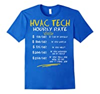 Tech Hourly Rate Chalk Style Best Gift Shirts Royal Blue