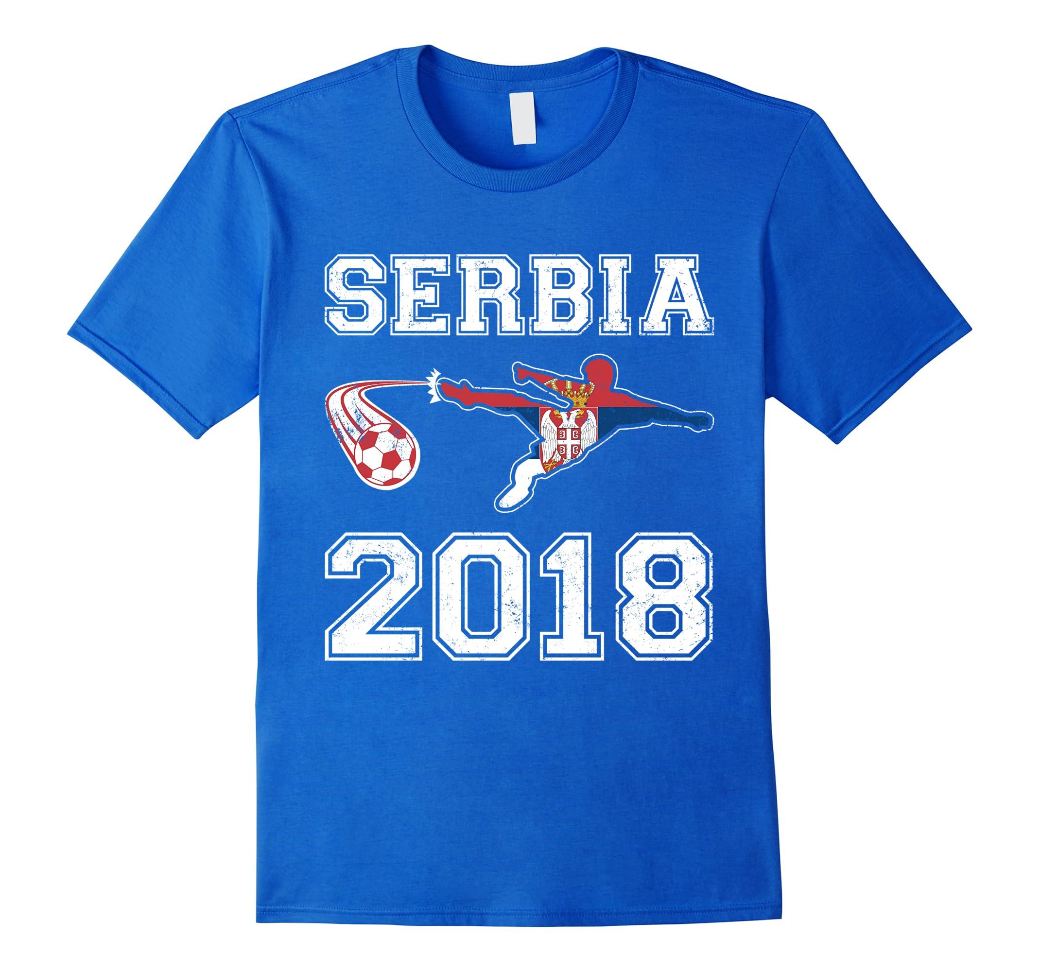 Serbia Soccer Representation 2018 Champion Shirt-RT