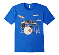 Awesome Drum Set Rock Music Band Shirts Royal Blue