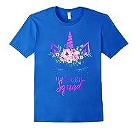 Cute Rainbow Unicorn Squad Unicorn For Party Shirts Royal Blue
