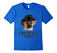 Puggle Dad Funny Father's Day Dog Lovers Gift Shirts Royal Blue
