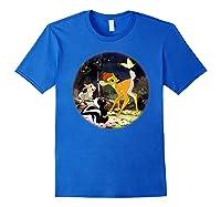 Disney Bambi Forest Scene T Shirt Royal Blue