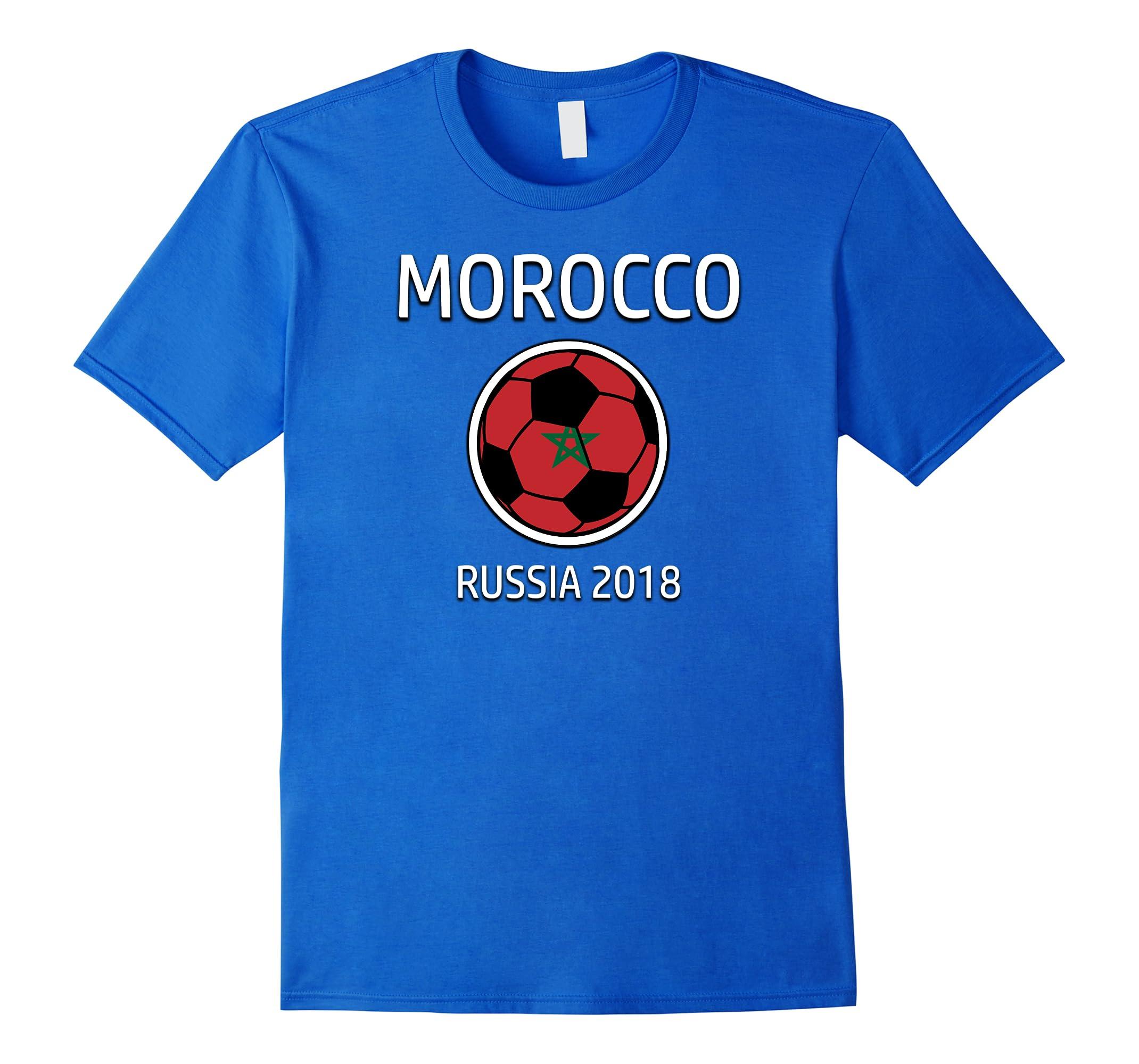 Morocco Soccer Team Russia 2018 T Shirt Football Fan-RT