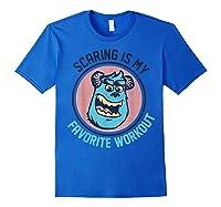 Pixar Monsters University Sulley Face Shirts Royal Blue