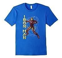 Marvel Avengers Assemble Iron Man Tech Graphic T-shirt Royal Blue