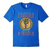 Karaoke Music Gifts Sing Music Bar Singer Vegas Style Mic Shirts Royal Blue