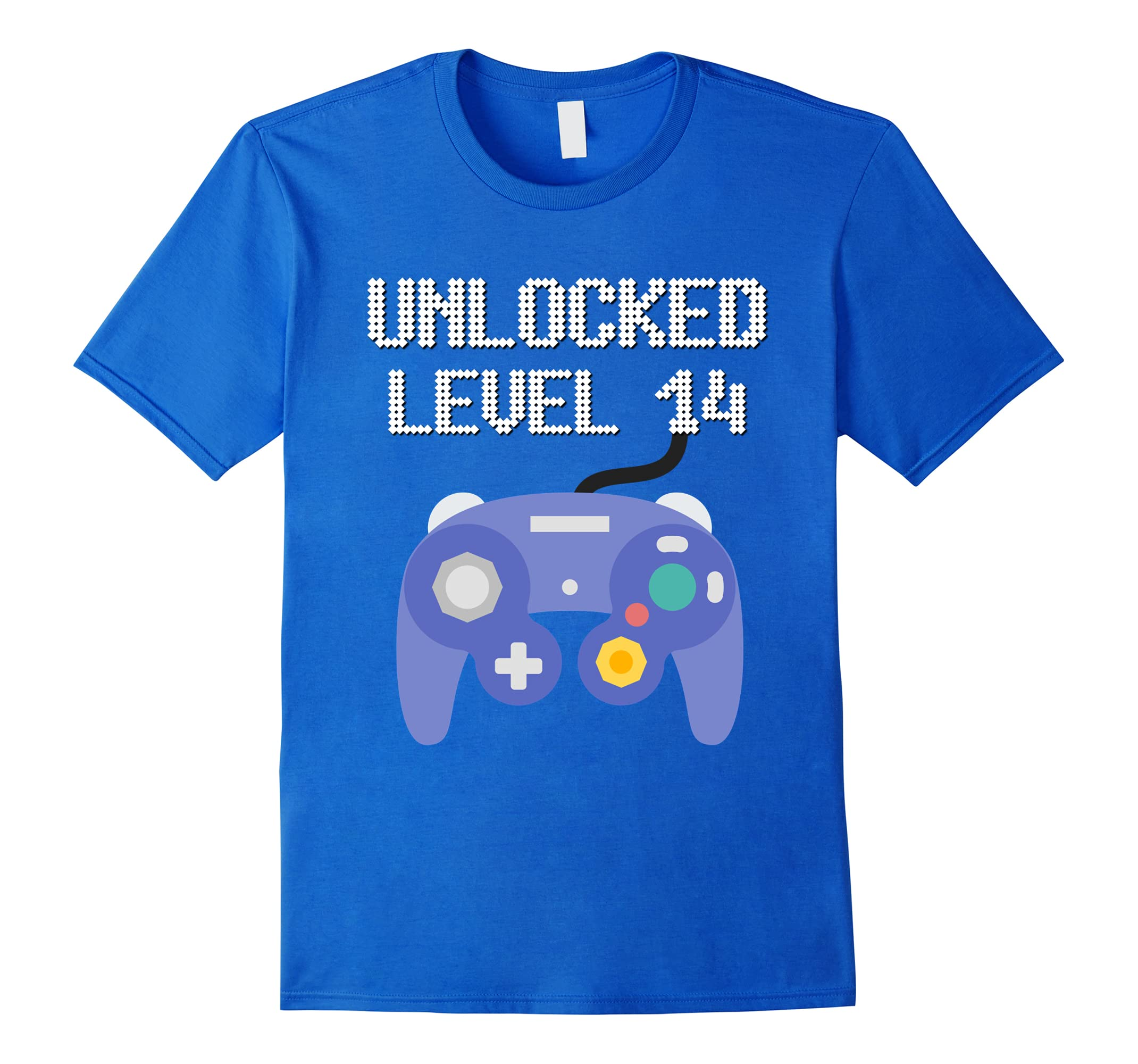 14th Birthday Gamer Tee Unlocked Level 14 Years Old T Shirt RT