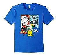 Alola Starters With Legendaries Shirts Royal Blue