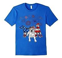 Labrador 4th Of July America Flag Gifts Shirts Royal Blue