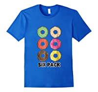 Funny Donut Six Pack Muscle T Shirt Royal Blue