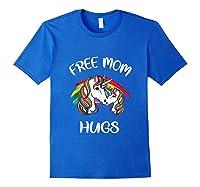 Free Mom Hugs Rainbow Gray Pride Lgbt Funny Tank Top Shirts Royal Blue