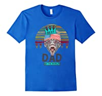 Funny Fathers Day Best Dad Ever Gorilla 4th Of July Premium T-shirt Royal Blue
