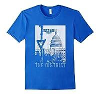 Vintage Washington Dc District Of Columbia T Shirt Royal Blue