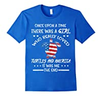 Once Upon A Time Turtle America 4th Of July T Shirt Gifts Royal Blue