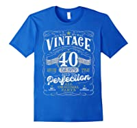 Vintage 40th Birthday Shirt, 1979, Aged To Perfection Royal Blue