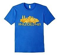 Philadelphia City Skyline Travel Souvenir Gift T Shirts Royal Blue