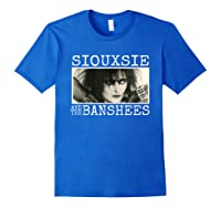 Siouxsie And The Banshee Siouxsie Sioux T Shirt Royal Blue