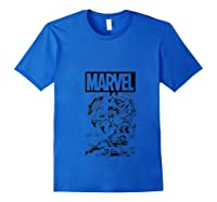 Captain America Black And Comic Panels Logo Shirts Royal Blue