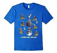 I Need My Space T-shirt Dinosaur T-rex Eat Planet Pizza Royal Blue