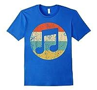 Musician Retro Musical Notes T-shirt Royal Blue