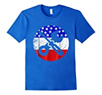 American Flag Car Mechanic Shirt - Screwdriver Wrench Shirt Royal Blue