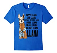 Happy Sad Tally Disturbed Drama Big Fat Shirts Royal Blue