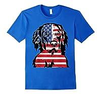 Funny Hovawart American Flag 4th Of July Shirts Royal Blue