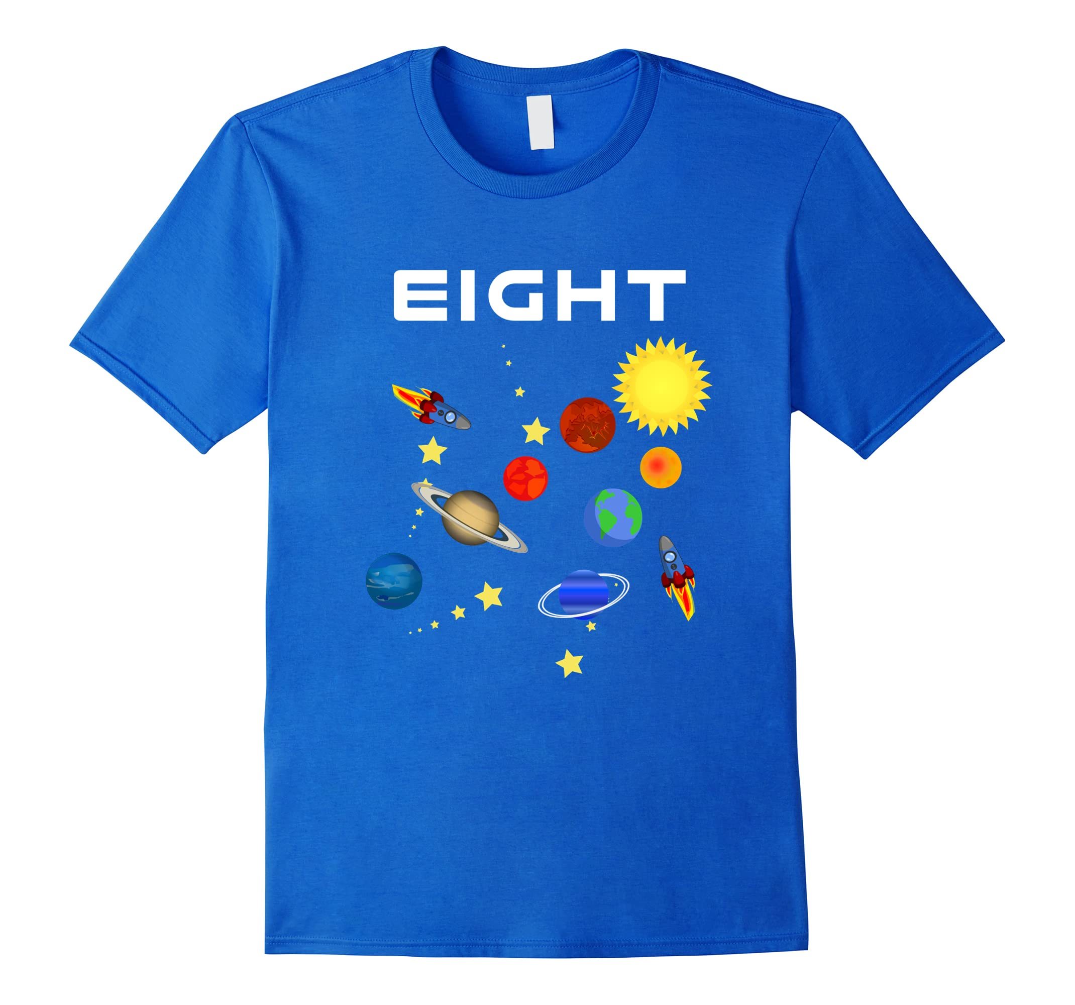 8 Year Old Outer Space Birthday Party 8th T Shirt RT