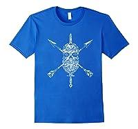 Vintage Sugar Skull Special Forces Military Tribute Design Shirts Royal Blue