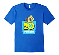 Spongebob Squarepants 20 Years Of Spongebob T-shirt Royal Blue