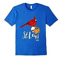 Saint Louis Red Cardinal Shirt 2019 Bird Player Royal Blue