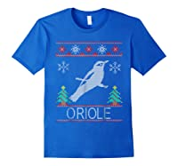Oriole Christmas Shirts Royal Blue
