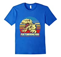 Fatherhood Like A Walk In The Park Father's Day Gif Shirts Royal Blue