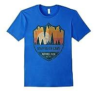 Mammoth Cave National Park Kentucky Emblem Shirts Royal Blue