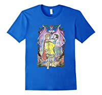 Snow Distressed Poster Style Graphic Shirts Royal Blue