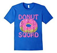 Pink Donut Squad Birthday Shirts Royal Blue
