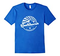 Leavenworth Washington Retro Vintage City Mountains T Shirt Royal Blue