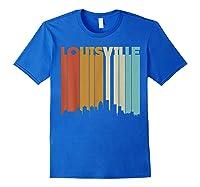 Louisville Retro Skyline City T Shirt Souvenir Skyline Royal Blue