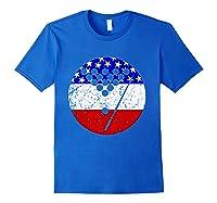 American Flag Billiards Vintage Retro Pool Shirts Royal Blue