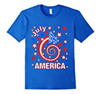 Festive 4th Of July, Independence Day Design Shirts Royal Blue