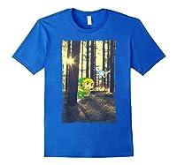 Nintendo Zelda Link And Navi Photo Real Forest Scene Shirts Royal Blue