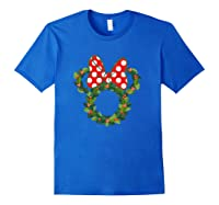 Disney Minnie Wreath T Shirt Royal Blue