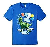 Disney Pixar Toy Story Birthdaysaurus Rex 2nd Birthday T-shirt Royal Blue