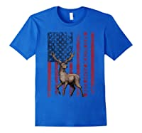 Best Buckin' Pappy Ever Us Flag Hunting Tshirt Fathers Gifts Royal Blue