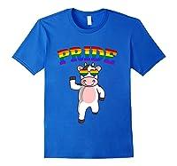 Lgbt Cow Gay Pride Rainbow Lgbtq Cute T-shirt Royal Blue