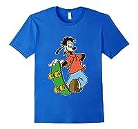 Disney Maxie Skateboard T Shirt Royal Blue