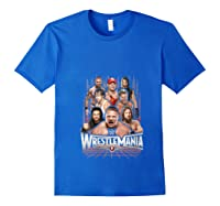 Wrestlemania Group Wwe T-shirt Royal Blue