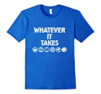 Marvel Avengers: Endgame Whatever It Takes T-shirt Royal Blue