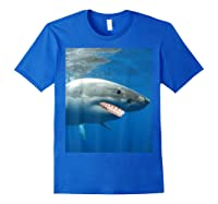 Great Shark With Braces And Human Th Shirts Royal Blue